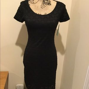 Isaac Mizhari black lace dress